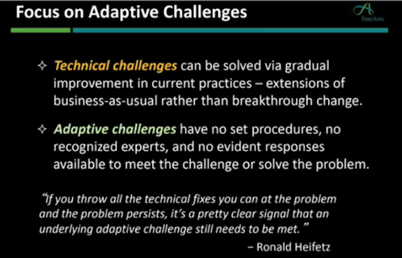Ron Heifetz - technical and adaptive