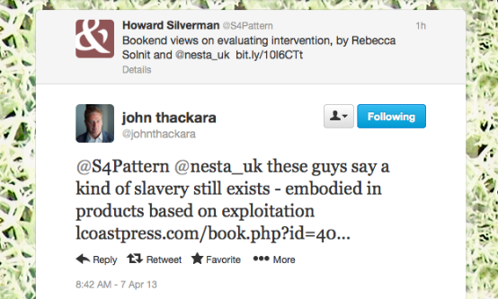 Thackara on slavery