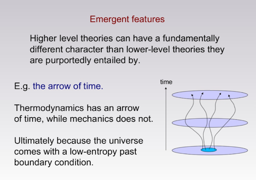 Sean Carroll emergent features